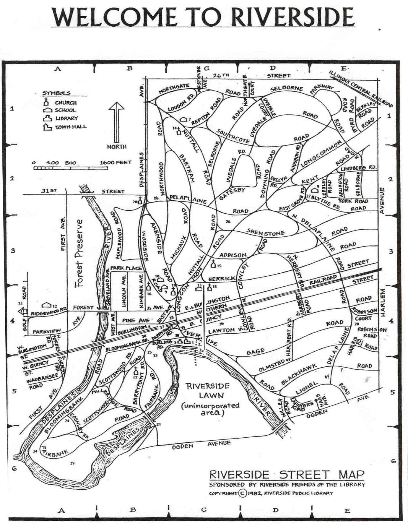 Maps Of Riverside Frederick Law Olmsted Society