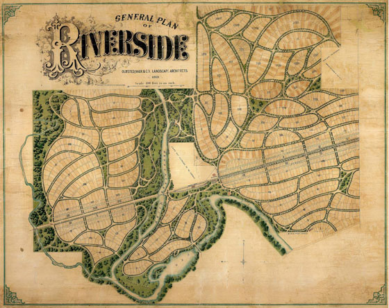 General Plan of Riverside Olmsted, Vaux & Co. Landscape Architects 1869