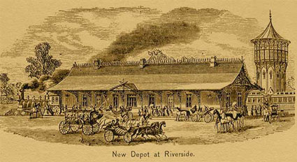 Riverside train station, then