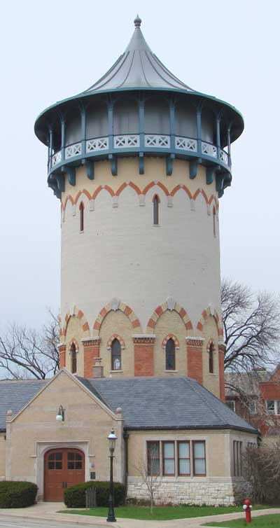 Riverside watertower, now