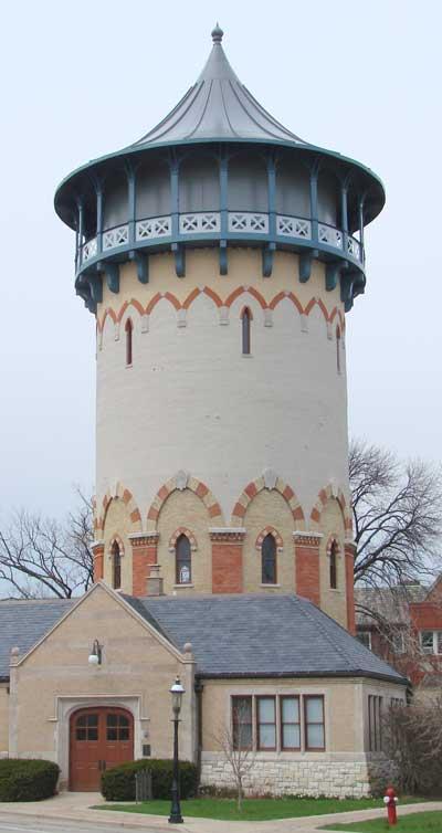 Riverside watertower, now