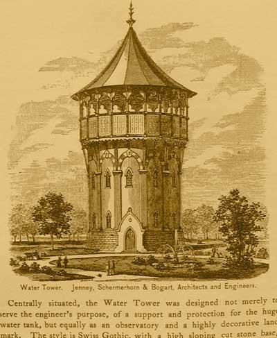 Riverside watertower, then