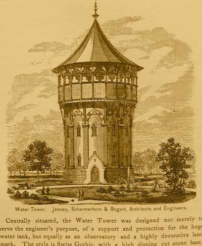 Riverside watertower, then