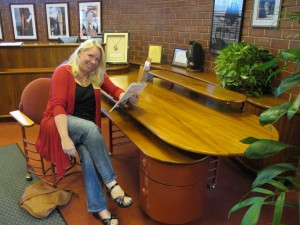 Kim and FLW desk