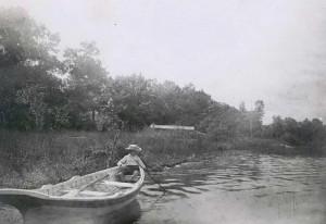 Boating up river