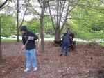 May 14 Spreading Mulch