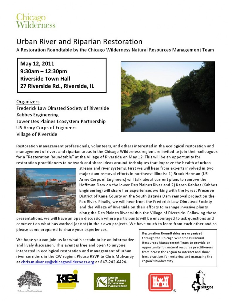 Urban River and Riparian Restoration Flier