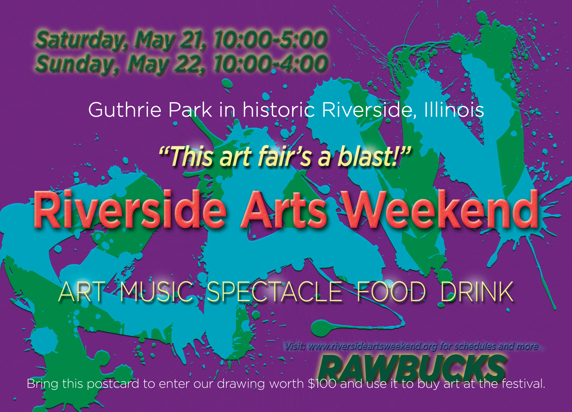 Riverside Arts Weekend 2016 Frederick Law Olmsted Society